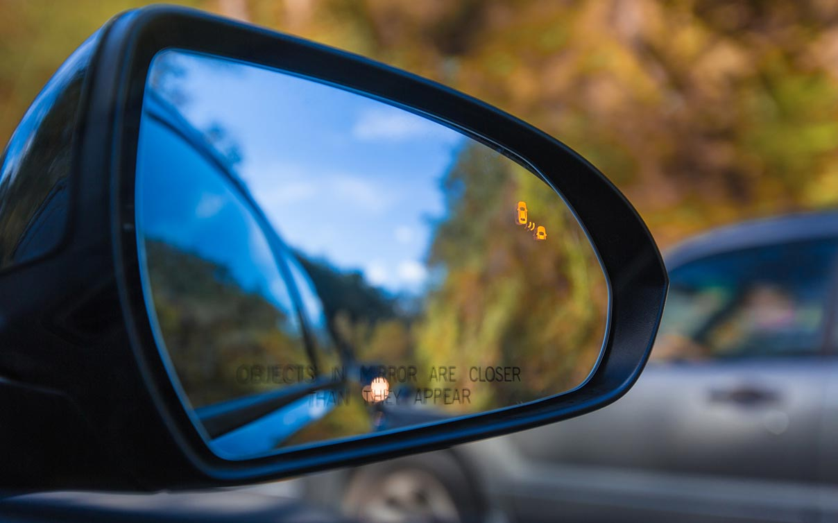 car passenger sideview mirror